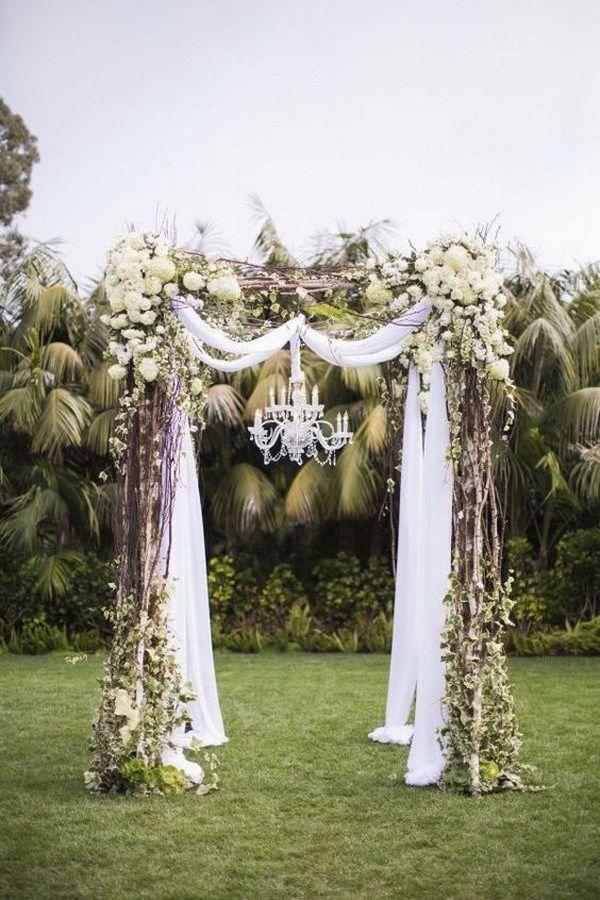 Charming Wedding Trellis Decoration Ideas Part - 13: 20 Beautiful Wedding Arch Decoration Ideas