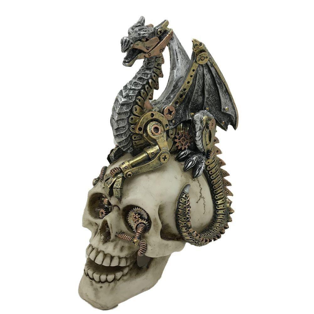 dragon sittting on skull Dragons Grasp 18.5cm steampunk