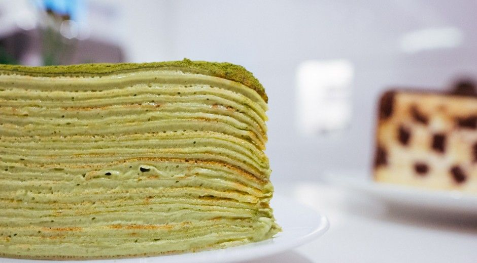 Lady M's Green Tea Mille Crêpe made with no less than