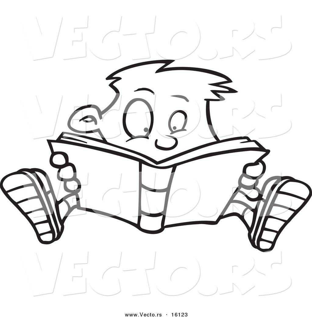 Drawings Of Children Reading
