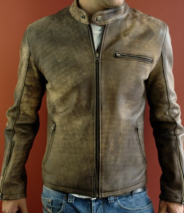 Mens Brown Leather Jacket Distressed images | leather_jackets ...