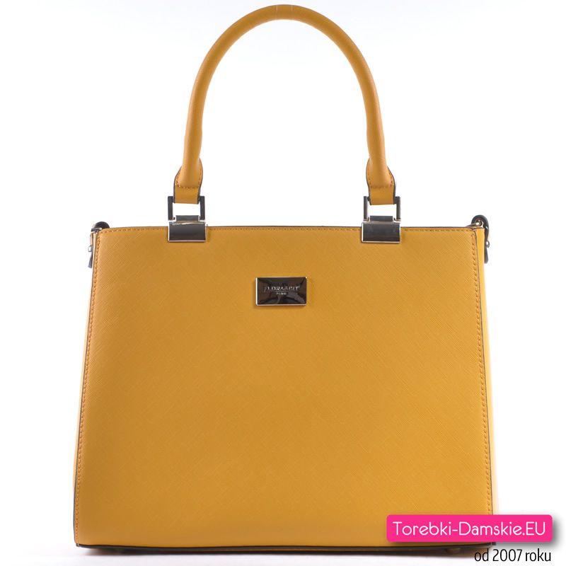 Musztardowa markowa torebka damska w promocyjnej specjalnej