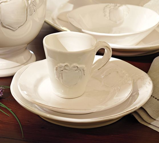 Italian White Dinnerware | Pottery Barn & Italian White Dinnerware | Pottery Barn | Tableware | Pinterest ...