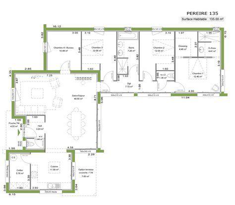 La maison à toit plat Dernière née de notre gamme, cette maison aux - plan de maison en l de plain pied gratuit