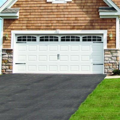 Crown Bolt Traditional Decorative Garage Hardware Kit In Black Garage Door Decorative Hardware Garage Door Decor Garage Door Styles
