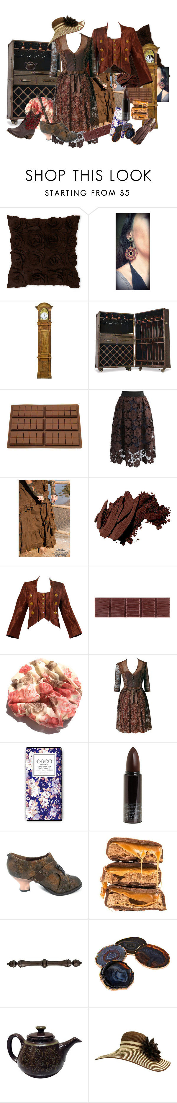 """""""Chocolate / Western"""" by amanda-anda-panda ❤ liked on Polyvore featuring Thos. Baker, Chicwish, Bobbi Brown Cosmetics, Christian Lacroix, Maggy Rouff, Serge Lutens, RabLabs and MIA"""