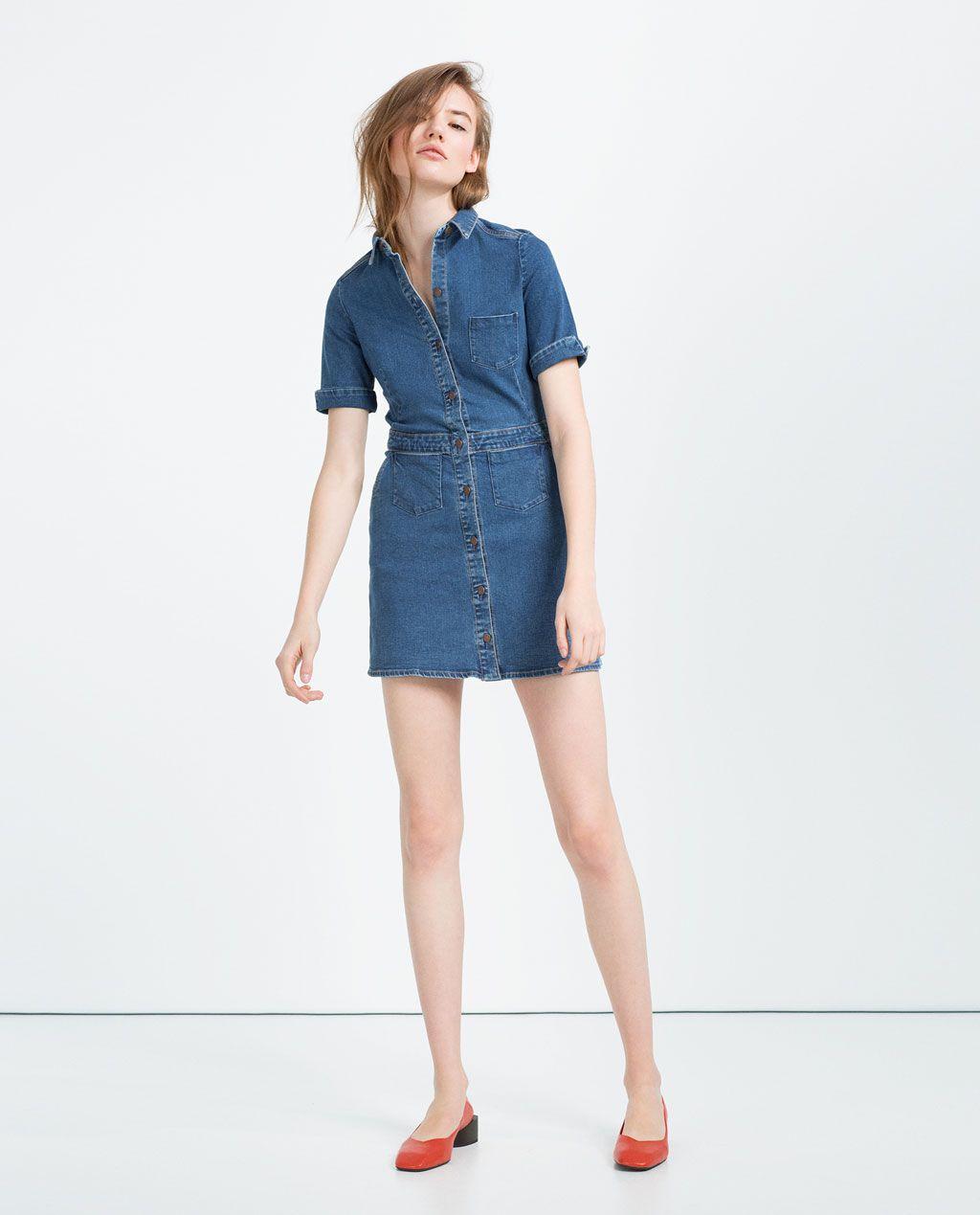 Moda Denim Dress Mini Zara Pinterest Woman Mujer wvCq7IP