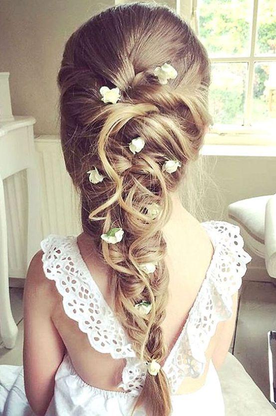 Wedding Hairstyles Pinterest Flower Girl Hair Girl Hair And