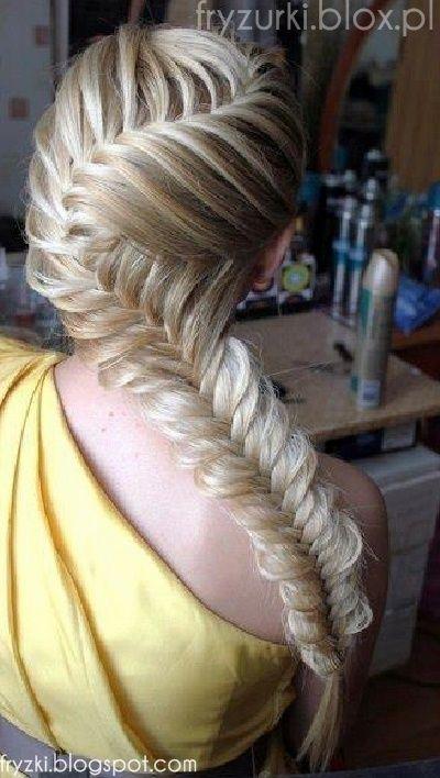 Fryzura Długie Włosy Warkocz Kłos 2013 Long Fishtail