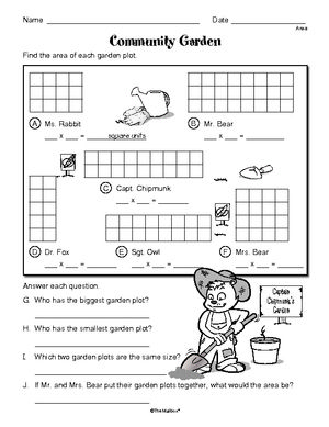 area| worksheet | 3.MD.C.7a | Guest - The Mailbox | common core math ...