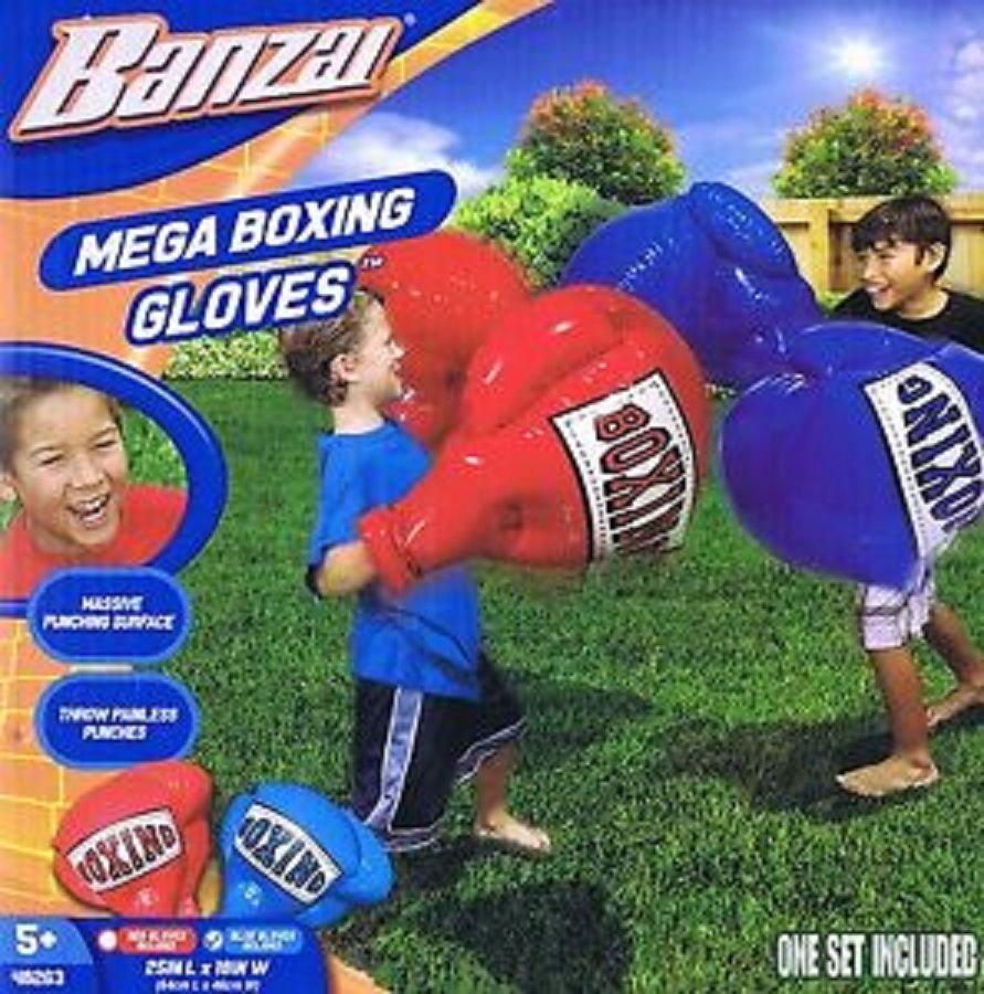 Banzai Kids Inflatable Mega Boxing Gloves Fight 1 Pair