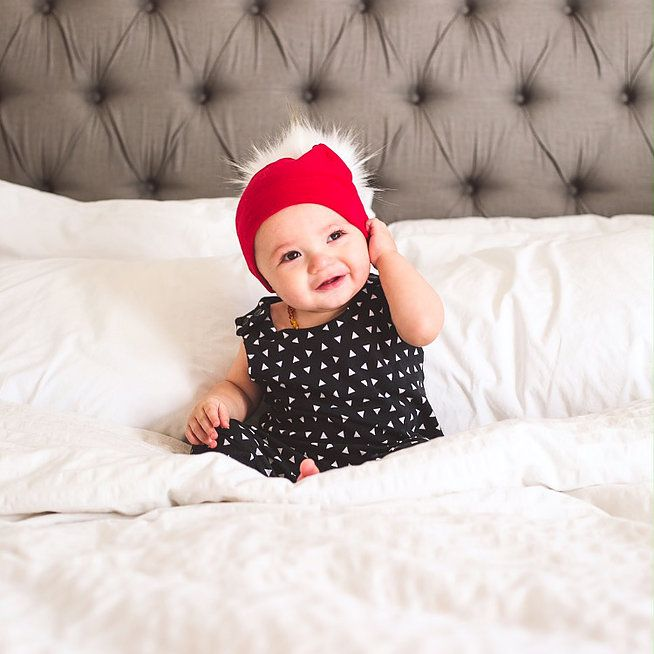da0207990ab Holiday Big Pom Pom Baby Toddler Slouchy Beanie