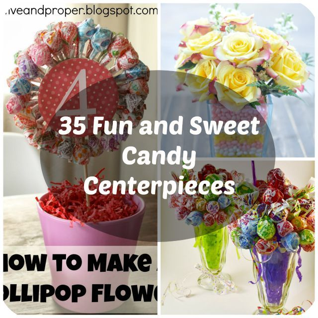 35 Sweet Candy Centerpiece Ideas for Parties | Candy centerpieces ...