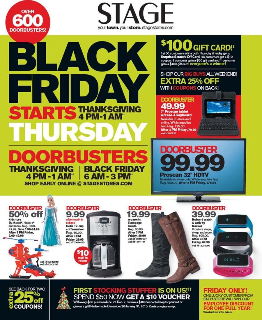picture regarding Stage Stores Printable Coupons referred to as Place Shops Black Friday Advertisement Scan 2014 Black Friday 2014