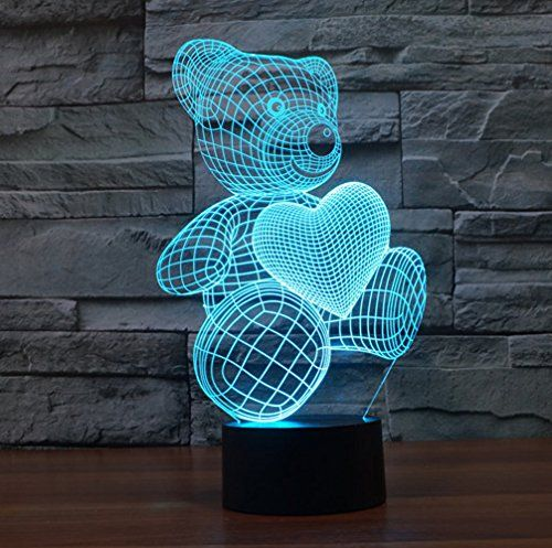 3d Lamp Bear Heart Shape Toys Gift Acrylic Table Night Li Https Www Amazon Com Dp B01hpi3mpy Ref Cm Sw R Night Light Kids Baby Night Light Led Night Lamp