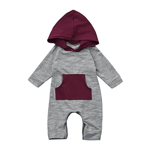 6ef9fca9bd Sharemen Baby Boy Girl Cute Hooded Romper Bodysuit Clothes (3-6 Months