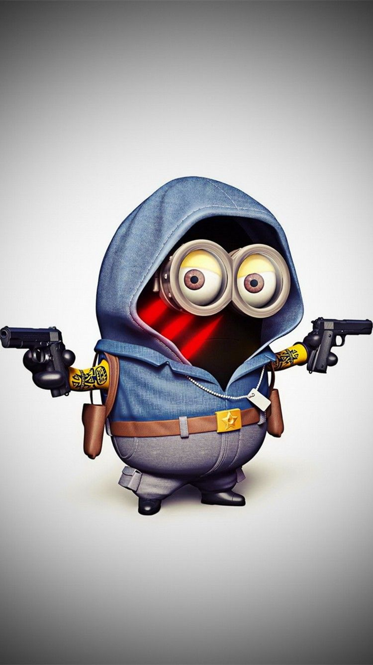 Cool gunman minion with  iphone 6 wallpaper - Despicable Me iphone 6 wallpaper, 2014 Halloween