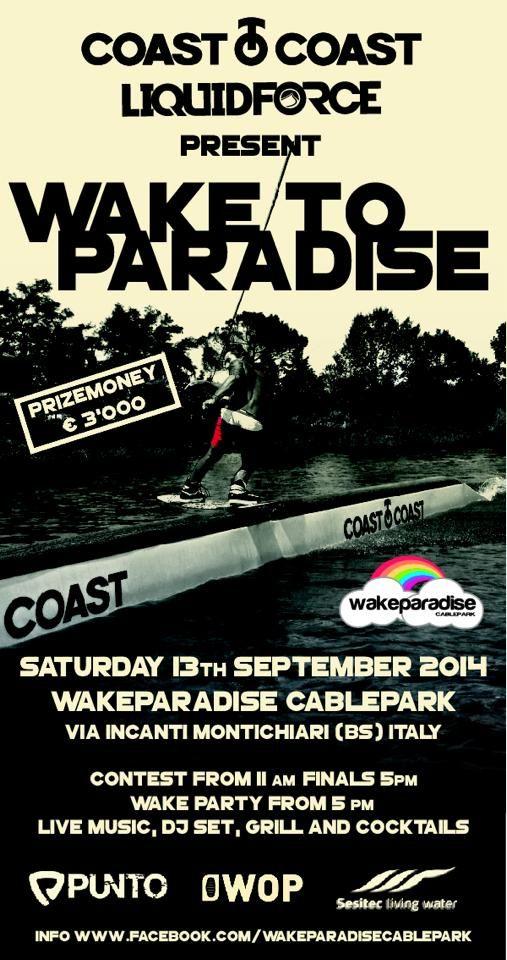 Wake to Paradise cash prize contest 2014