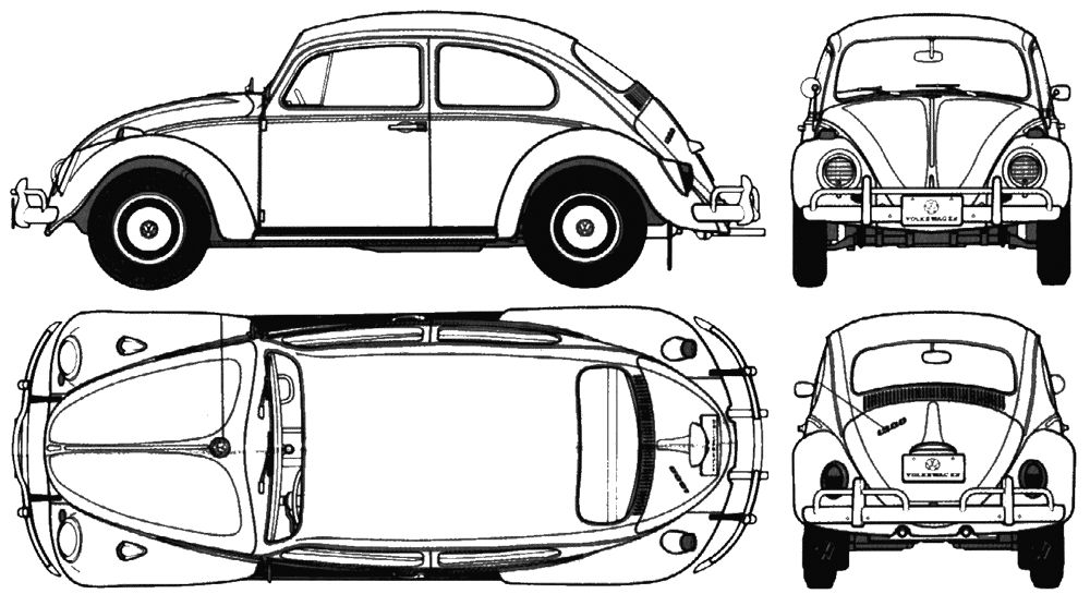 Vw Bug Paint Scheme Color Page