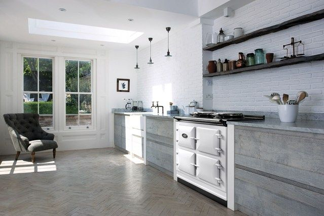Modern Rustic Kitchen Gray modern rustic | aga stove, decorating ideas and modern country