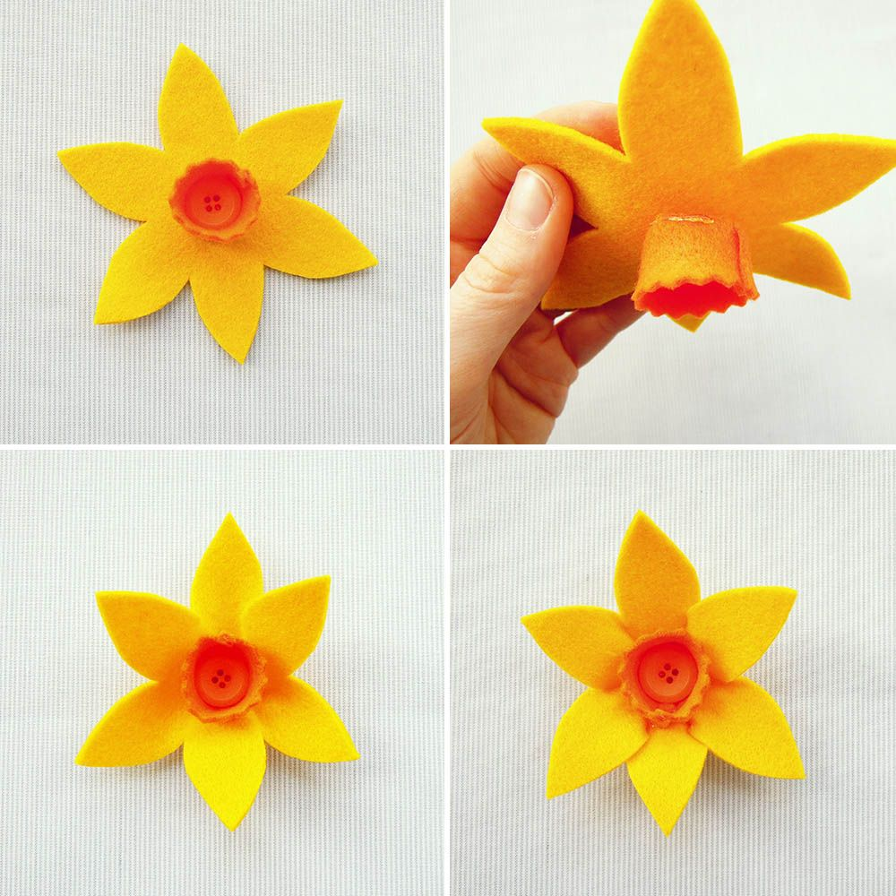 Diy Felt Daffodil Felt Flower Tutorial Felt Flowers Felt Crafts