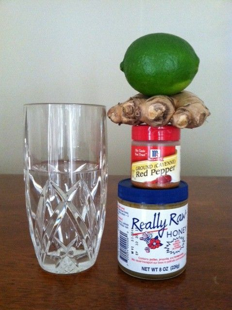 Morning detox/warming tea: Steep ginger juice, honey, cayenne pepper and lime in hot/warm water and drink-up.