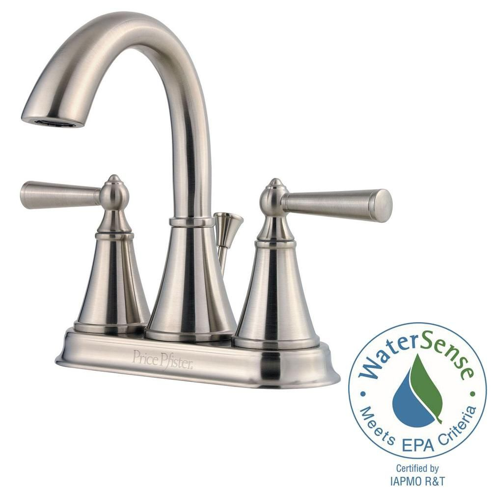 Pfister Saxton 4 In Centerset 2 Handle Bathroom Faucet In Brushed