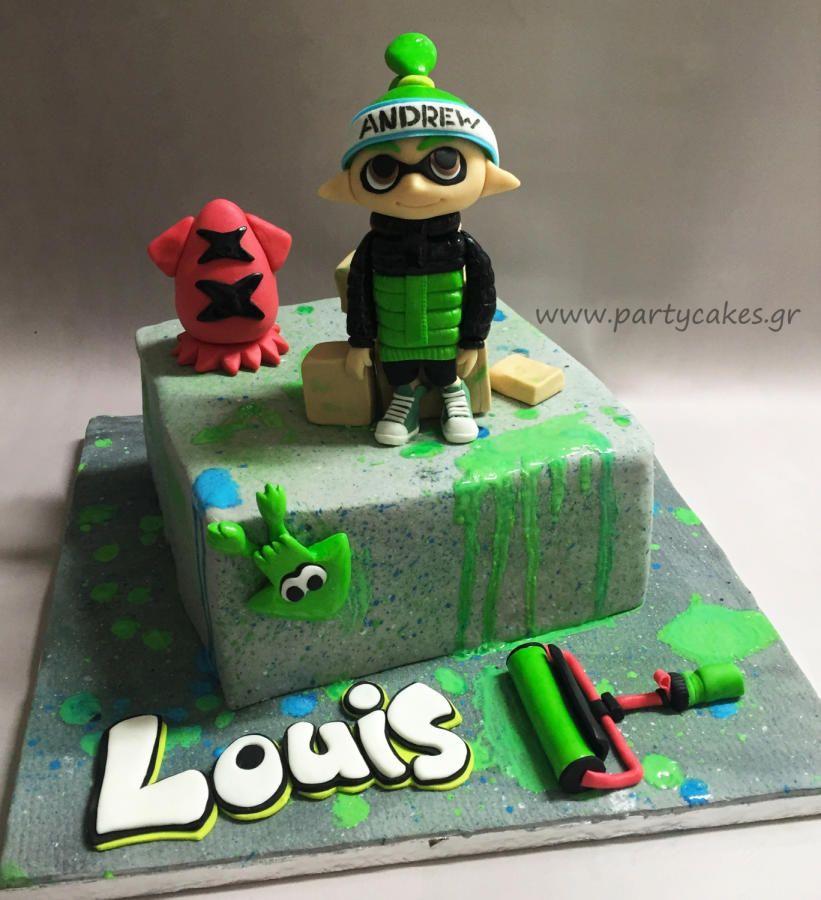Splatoon  Inkling Boy Birthday Cake