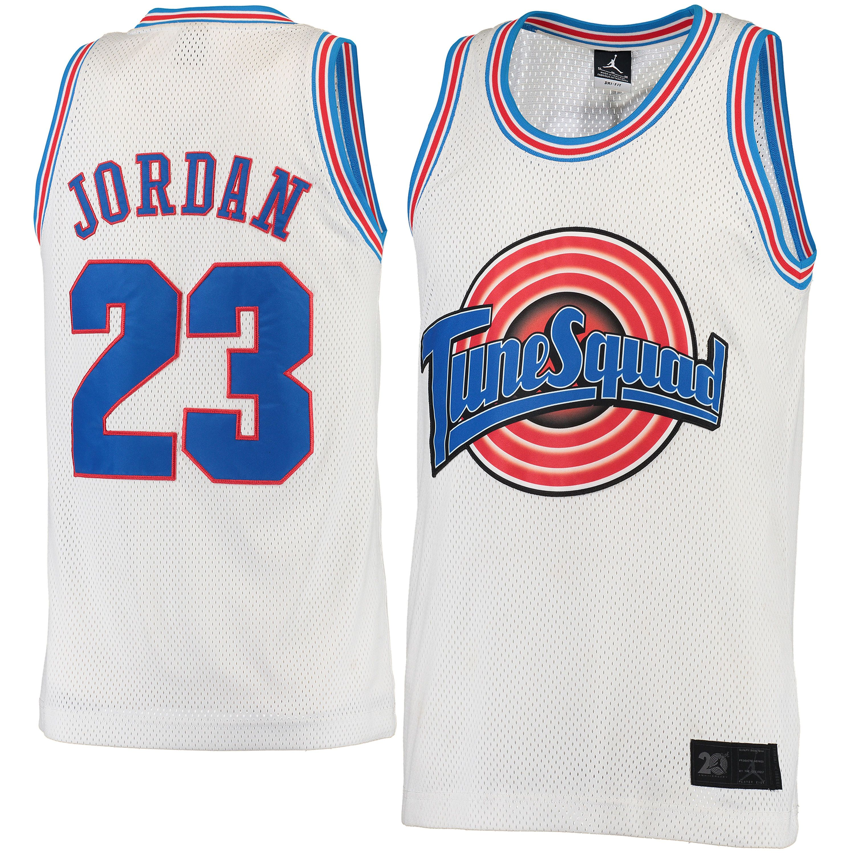 uk availability 209a1 d7bc9 Men's Tune Squad Michael Jordan Brand Jordan White Replica ...