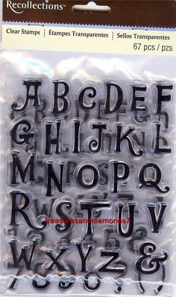 Clear Stamps ALPHA TOON ALPHABET 2 Sheets Upper & Lower & Numbers & Punctuation