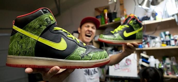 Avengers Custom Shoe Design Hand