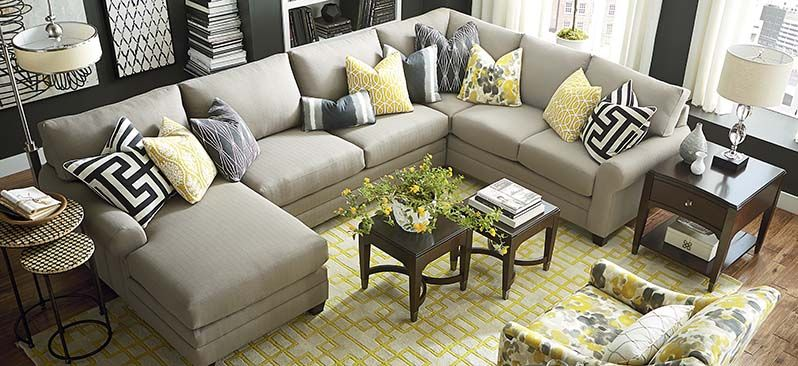 Sectional Sofa U Shaped Sitting Room Set Designs Bassett Furniture In Pineville Nc Living