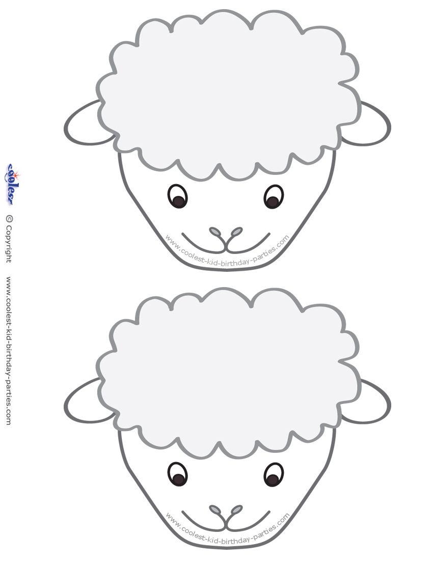 Juicy image within sheep craft printable