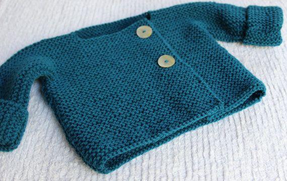 e5bb78b99827 Bebeknits Simple French Style Lightweight Baby Cardigan Knitting ...