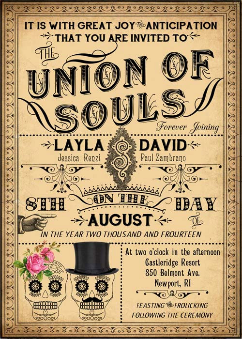Luella - Printable DIY Victorian Steampunk Wedding Invitation ...