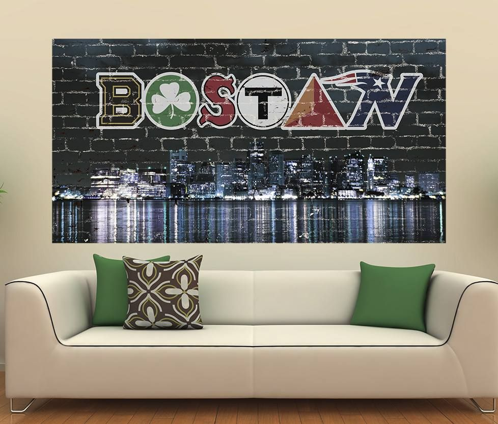 Pin By Mary Howl On Boston Man Cave Sports Wall Decals Boston