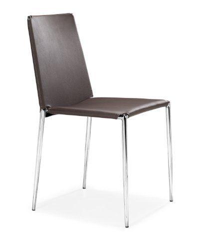 Zuo Alex Dining Chair Espresso Set Of 4 By Zuo 45102