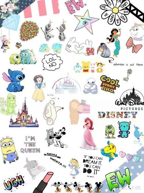 Tumblr Collage Adesivos Para Impressao Tela De Fundo Adesivos