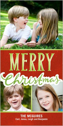 All Things Merry 4x8 Photo Card Christmas Cards Shutterfly Holiday Design Card Christmas Cards Cards