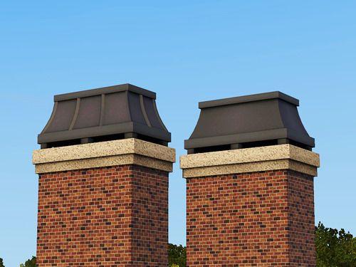 Decorative Swoop Chimney Caps 2 styles §65 Found under Roof Decor ...