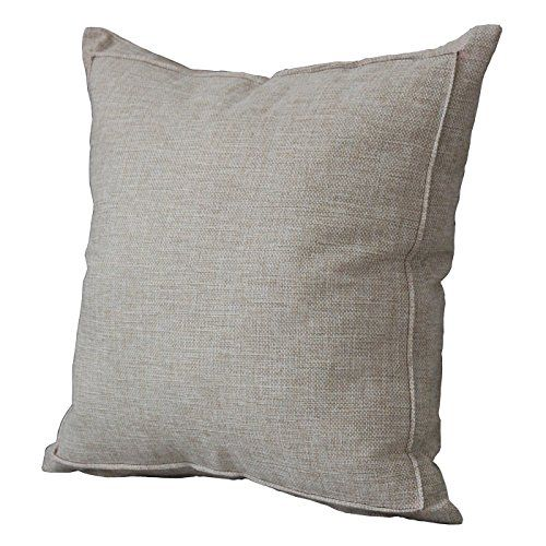 Jepeak Burlap Linen Throw Pillow Cover