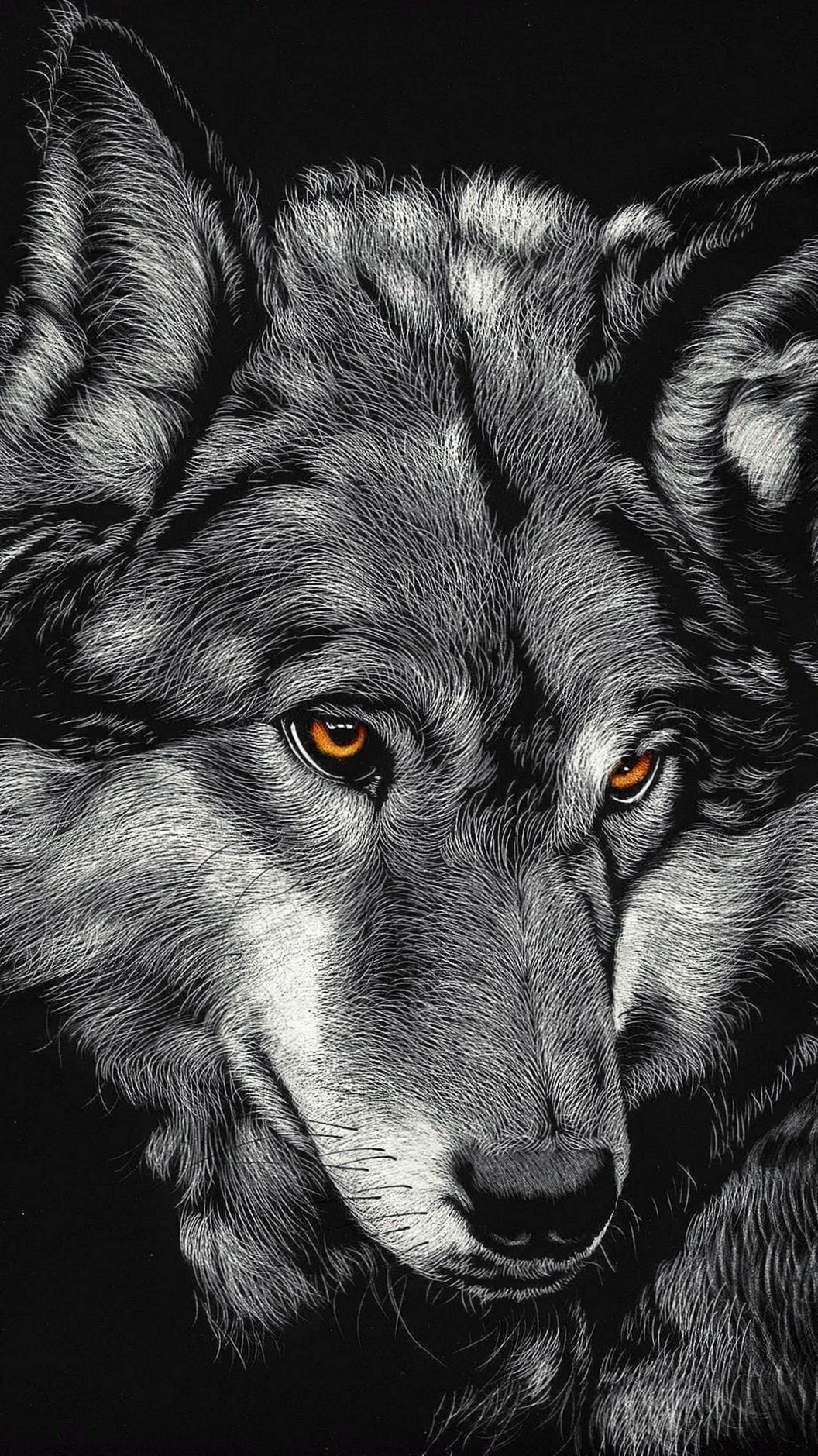 Black Wolf iPhone X Wallpapers WolfWallpapers.Pro in