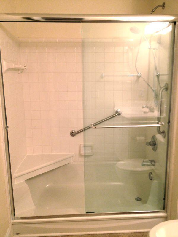 Bathtub to Shower Conversion | Walk in Shower | Shower Seats | Home ...