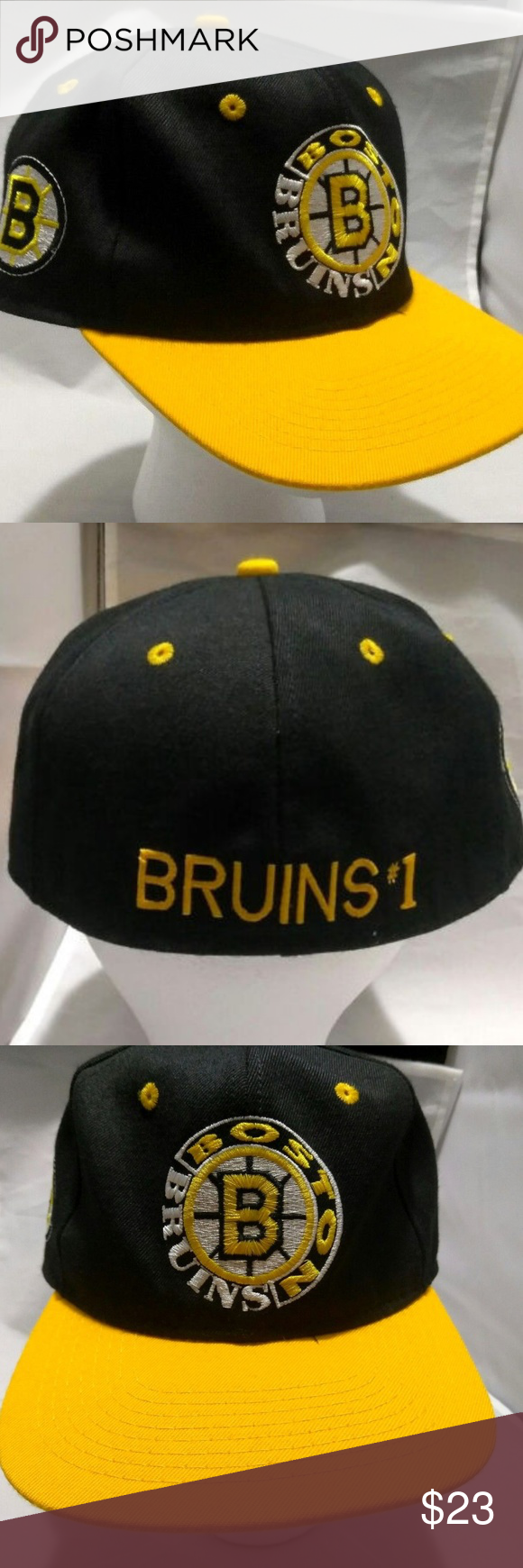 38aa55f212a Boston Bruins  1 Apparel Fitted Hat size 7 1 4 NHL Boston Bruins  1 Apparel  Fitted Hat size 7 1 4 NHL Hockey NHL 90s Vtg EUC... Looks great....Thank  You.