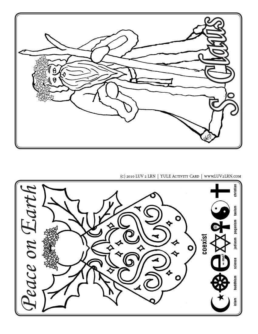 2 lrn yule activity cards bw like