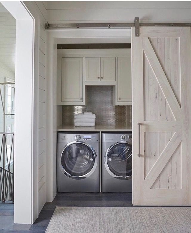 Elegant Laundry Room Upper Cabinets