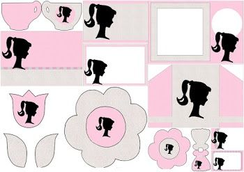 image about Free Printable Barbie Silhouette referred to as Barbie Silhouette: Cost-free Printable Invites. Barbie