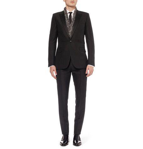 c0088e547ee3d Saint Laurent | Slim-Fit Wool and Mohair-Blend Tuxedo | Suits + ...