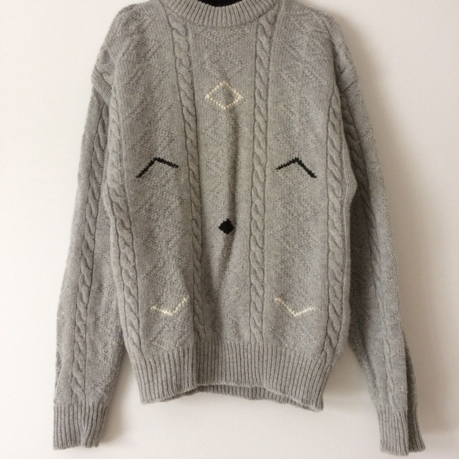 oversized knit sweater, super cute outfit with jeans! 100% wool ...