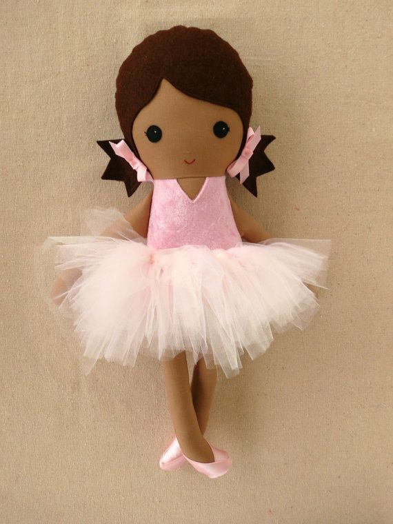 Reserved for Lynda  Fabric Doll Rag Doll Pink por rovingovine